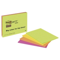 3M POST-IT SUPER STICKY MEETING AND BRAINSTORMING NOTES NEON 200X149MM - PACK 4