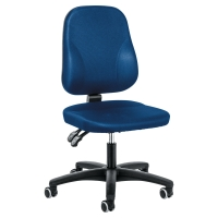 INTERSTUHL BASELINE PERMANENT CONTACT CHAIR MEDIUM BACK BLUE - ARMS NOT INCLUDED
