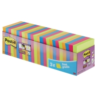 PK24 POST-IT SUPER STICKY NOTES 76X76MM ASSORTED COLOUR