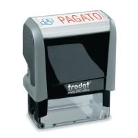TIMBRO  PAGATO  AUTOINCHIOS. TRODAT OFFICE PRINTY 4.0 IN PLASTICA RICICLATA