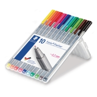 Staedtler Triplus 334 fineliner 0,3 mm - set de 10 couleurs assorties