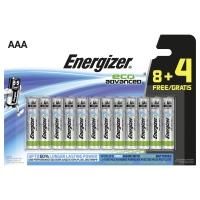 Energizer eco advanced alkaline batteries AAA - le paquet de 8+4 gratuite