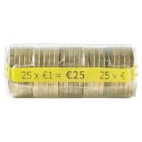 PAQUET DE 250 ETUIS A MONNAIE PVC TRANSPARENT REUTILISABLES 1 EURO