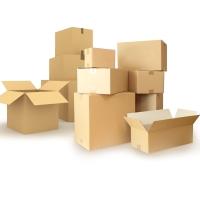 Pack de 25 cajas carton de canal simple 300x300x300 mm