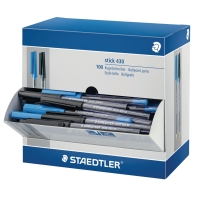 STAEDTLER 430 BLACK/BLUE BALL PENS - BOX OF 90 + 10 FREE