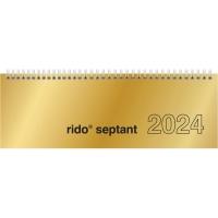 Tischquerkalender 2017 ide 36121 Septant, 1 Woche / 2 Seiten, 30,7x10,5cm, gold