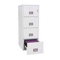 PHOENIX EXCEL VERTICAL FIRE PROOF FILING CABINET 4 DRAWER WHITE