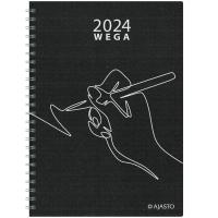 Ajasto Wega Eko kalenteri A5, musta