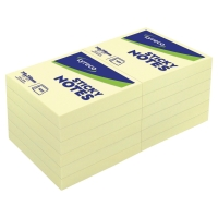 LYRECO PLAIN YELLOW STICKY NOTES 76 X 76MM - PACK OF 12 PADS