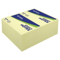 LYRECO PLAIN YELLOW STICKY NOTES 125 X 75MM - PACK OF 12 PADS