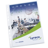 LYRECO BUDGET A4 PUNCHED POCKETS 55 MICRON-PACK OF 100