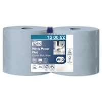 TORK W1 BLUE 2 PLY WIPING PAPER PLUS ROLL 255M - PACK OF 2