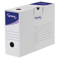 LYRECO WHITE AUTOMATIC TRANSFER FILE H245 X W100 X D338MM - BOX OF 20