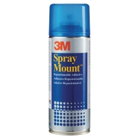 3M SPRAY MOUNT - AEROSOL SPRAY ADHESIVE FOR REPOSITIONABLE MOUNTS 400ML CAN