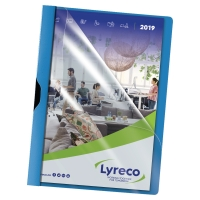 LYRECO TURQUOISE A4 CLIP FILES 30 SHEET CAPACITY - PACK OF 5