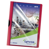 LYRECO RED A4 CLIP FILES 30 SHEET CAPACITY - PACK OF 5