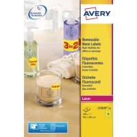 AVERY L7263Y HIGH VISIBILITY & PROMOTIONAL LABELS 99.1X38.1MM YELLOW - BOX OF 25