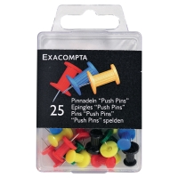 CHART DRAWING PINS ASSORTED COLOUR 10MM - BOX OF 25