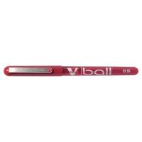 PILOT V-BALL ROLLER BALL RED PENS 0.3MM LINE WIDTH - BOX OF 12