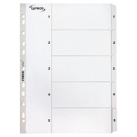 LYRECO MYLAR WHITE A4 1-5 INDEXES