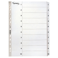 LYRECO MYLAR WHITE A4 1-10 INDEXES