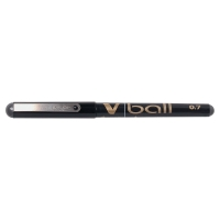 PILOT V-BALL ROLLER BALL BLACK PENS 0.5MM LINE WIDTH - BOX OF 12