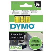 DYMO D1 LABELLING TAPE 7M X 9MM - BLACK ON YELLOW
