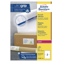AVERY L7168-100 BLOCKOUT LASER SHIPPING & PARCEL LABELS 199.6X143.5MM-BOX OF 100