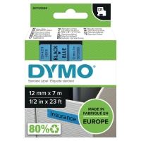 DYMO D1 LABELLING TAPE 7M X 12MM - BLACK ON BLUE