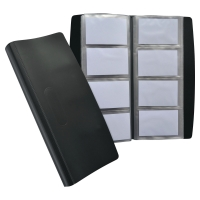 ELBA BLACK 140 X 275MM HEAVY-DUTY PVC BUSINESS CARD BOOK
