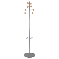 ALBA WOOD/METAL HAT AND COAT STAND