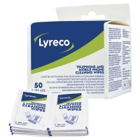 LYRECO PHONE CLEANING WIPES SACHETS - PACK OF 50