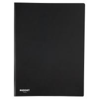 LYRECO BUDGET BLACK A4 20 POCKET SOFT COVER DISPLAY BOOK