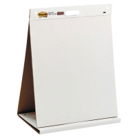 3M POST-IT 563 PLAIN WHITE TABLE TOP EASEL 584MM X 508MM 20 SHEETS