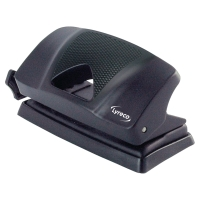 LYRECO 2 HOLE PUNCH BLACK - 12 SHEET CAPACITY