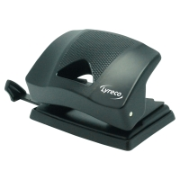 LYRECO 2 HOLE PAPER PUNCH BLACK - 20 SHEET CAPACITY