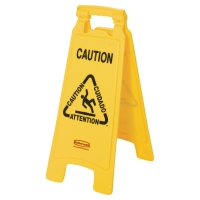 RUBBERMAID CAUTION WET FLOOR SIGN