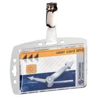 DURABLE SECURITY PASS HOLDER WITH METAL CLIP - BOX OF 25