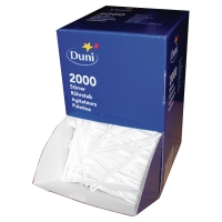 DUNI WHITE PLASTIC TEA AND COFFEE STIRRERS - BOX OF 2,000