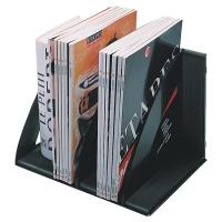 CEP BLACK MODULAR VERTICAL FILE SORTER/BOOK RACK - PACK OF 6