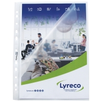 LYRECO A4 SIDE/TOP OPEN PUNCHED POCKETS 80 MICRONS - PACK OF 25