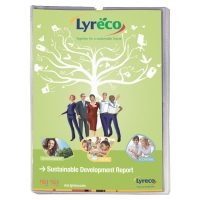 LYRECO BUDGET A4 CARD HOLDERS 130 MICRONS - PACK OF 25