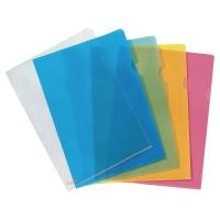 LYRECO PREMIUM YELLOW A4 CUT FLUSH PLASTIC FOLDERS 150 MICRONS - PACK OF 25