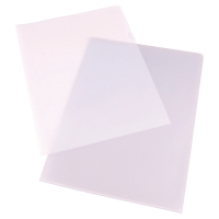 LYRECO BUDGET CLEAR A4 CUT FLUSH PLASTIC FOLDERS 90 MICRONS - BOX OF 100
