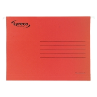 LYRECO PREMIUM RED FOOLSCAP SUSPENSION FILES V BASE - BOX OF 50