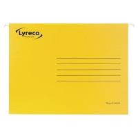 LYRECO PREMIUM YELLOW FOOLSCAP SUSPENSION FILES V BASE - BOX OF 50