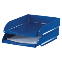 LYRECO STACKABLE LETTER TRAY BLUE