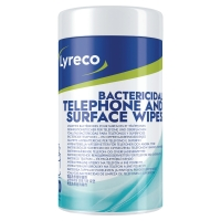 LYRECO OFFICE WET WIPES - TUB OF 70
