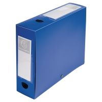 EXACOMPTA BLUE FOOLSCAP POLYPROPYLENE DOCBOX FILE 80MM