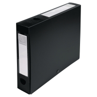 EXACOMPTA BLACK FOOLSCAP POLYPROPYLENE DOCBOX FILE 60MM